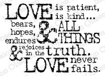 Love is Patient - Cling Rubber Stamp