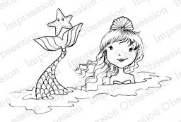 Jewel - Mermaid Cling Rubber Stamp