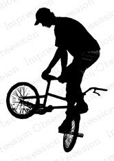 Bike Silhouette - Cling Rubber Stamp