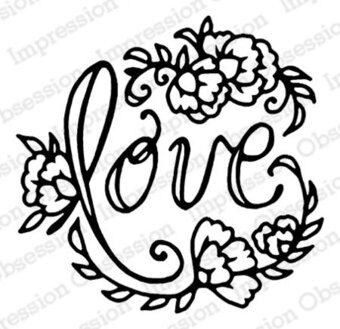 Love - Christian Cling Rubber Stamp