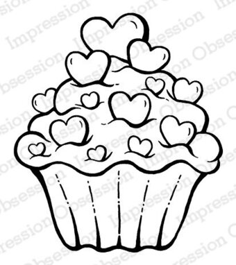 Sweetheart Cupcake - Cling Stamp