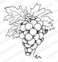Grapes - Cling Rubber Stamp