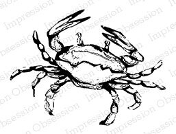 Crab - Cling Rubber Stamp