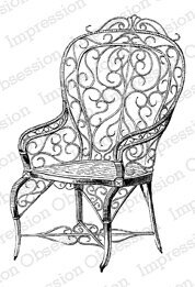 Ornate Vintage Chair - Cling Rubber Stamp