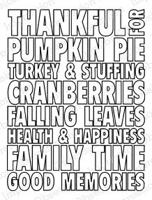 Thankful Words - Cling Rubber Stamp
