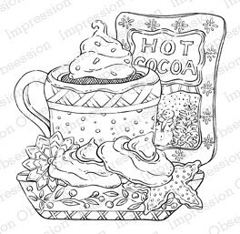Hot Cocoa - Cling Rubber Stamp