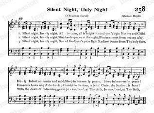 Silent Night - Cling Rubber Stamp