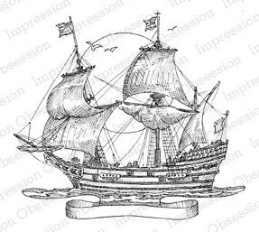 Ship - Cling Rubber Stamp