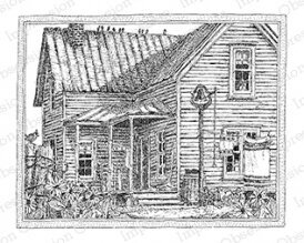 Farm House - Cling Rubber Stamp