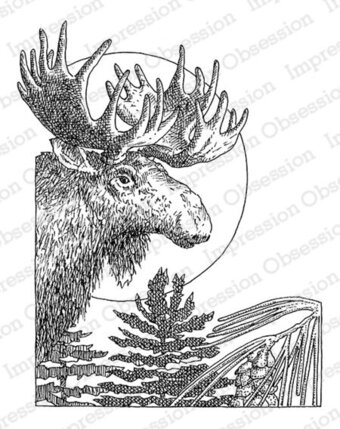 Winter Moose - Cling Stamp