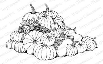 Pumpkin Harvest - Cling Rubber Stamp