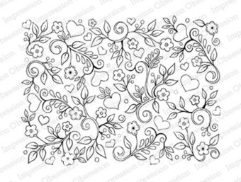 Simple Flower Background - Cling Rubber Stamp