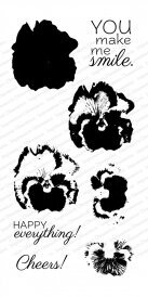 Layered Pansy - Clear Stamp