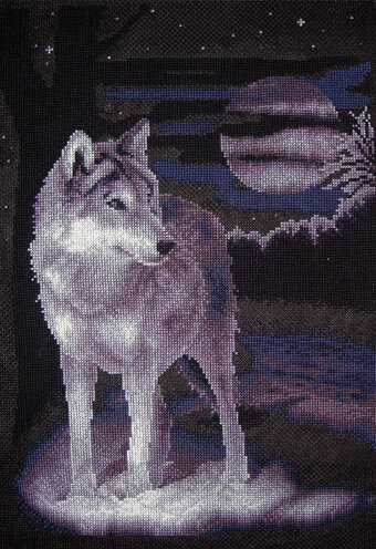 White Wolf - Cross Stitch Kit