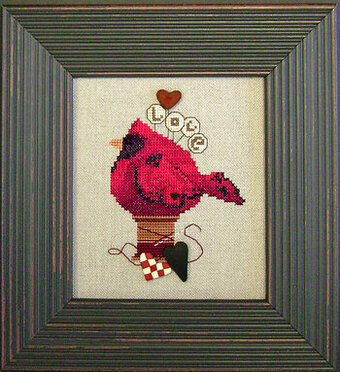 Lovebird (w/buttons) - Cross Stitch Pattern