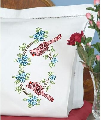 Cardinals Pillowcases - Embroidery Kit