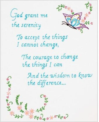 Serenity Prayer Sampler - Embroidery Kit