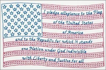Pledge of Allegiance White Sampler - Embroidery Kit