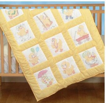 Jack Dempsey Needle Art Baby Ducks Nursery Quilt Squares