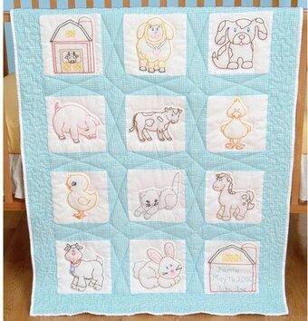 Jack Dempsey Needle Art Farm Animals Nursery Quilt Squares