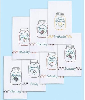Mason Jars Days of the Week Decorative Hand Towels