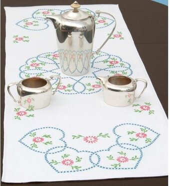 Starburst of Hearts Table Runner/Scarf Cross Stitch Kit