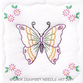 Jack Dempsey Needle Art Butterfly 9 Quot Quilt Squares
