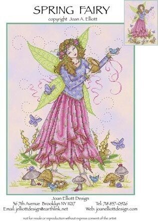 Spring Fairy - Cross Stitch Pattern