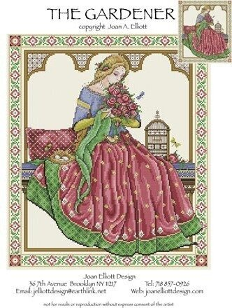 Gardener, The - Cross Stitch Pattern