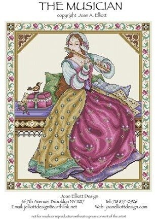 Musician, The - Cross Stitch Pattern
