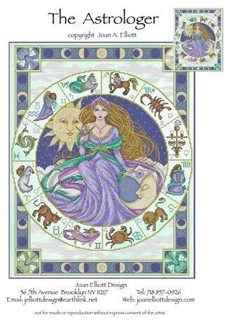 Astrologer, The - Cross Stitch Pattern