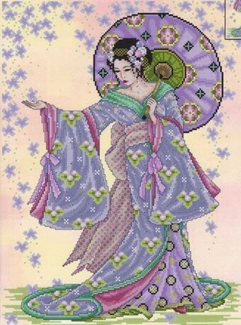 Summer Geisha - Cross Stitch Pattern