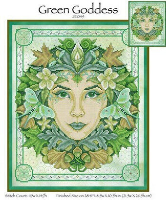 Green Goddess - Cross Stitch Pattern