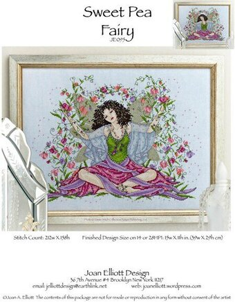 Sweet Pea Fairy - Cross Stitch Pattern