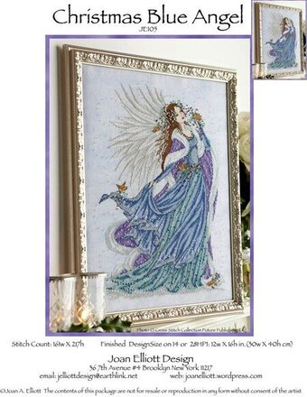 Christmas Blue Angel - Cross Stitch Pattern