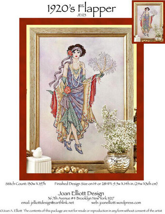1920's Flapper - Cross Stitch Pattern