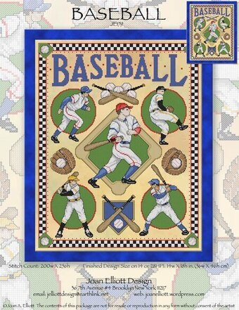 Baseball - Cross Stitch Pattern