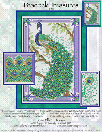 Peacock Treasures - Cross Stitch Pattern