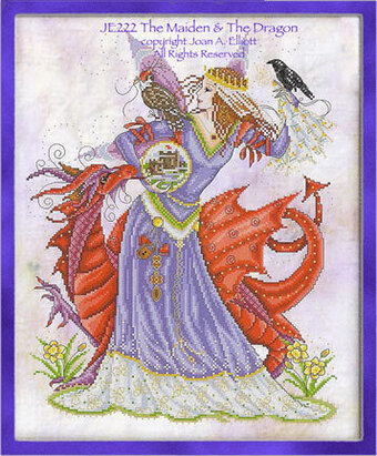 The Maiden & The Dragon - Cross Stitch Pattern