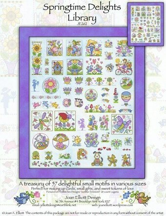 Springtime Delights Library - Cross Stitch Pattern