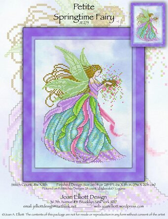 Petite Springtime Fairy - Cross Stitch Pattern