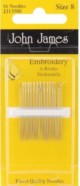 John James Crewel/Embroidery Hand Needles Size 8