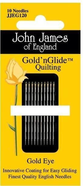 John James Gold'n Glide Quilting Needles - Size 9