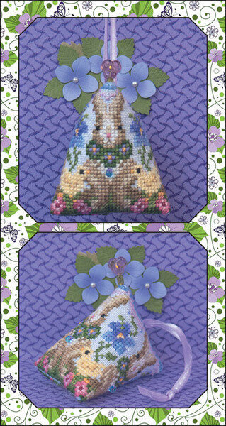 3 Violets Humbug & Embellishments - Cross Stitch Pattern