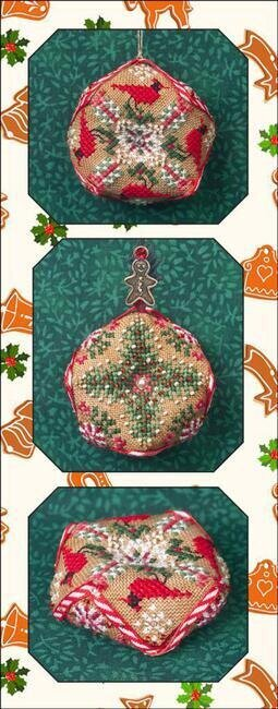 Tiny Christmas Biscornu - Cross Stitch Pattern