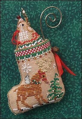 Gingerbread Mouse Reindeer Stocking - Cross Stitch Pattern