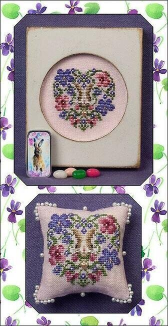 Heart of Spring (w/embellishments) - Cross Stitch Pattern
