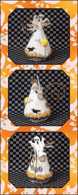 Candy Corn Ghost Mouse Limited Edition Ornament