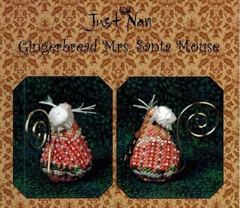 Gingerbread Mrs Santa Mouse - Cross Stitch Pattern