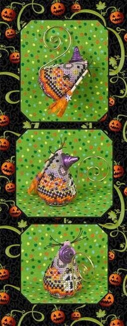 Hazel Fun Witch Mouse - Cross Stitch Pattern